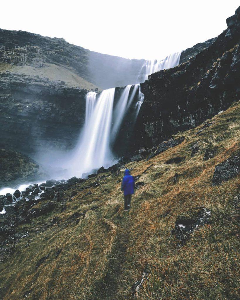 Faroe Islands Fossá Waterfall Streymoy sasha gnatyk - Faroe Islands' most instagrammable places