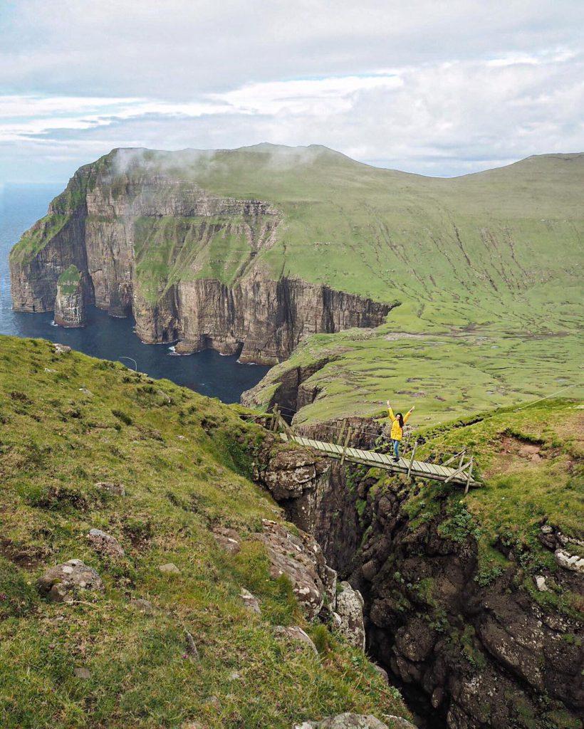 Faroe Islands Sandvík Suduroy Bridge - Faroe Islands' most instagrammable places