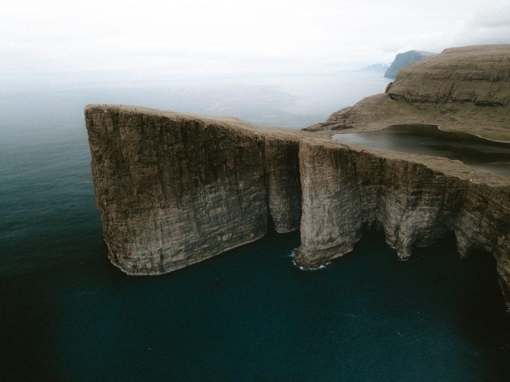 Faroe Islands Sorvágsvatn cliff - Faroe Islands' most instagrammable places