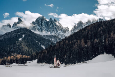 St Johann in Ranui Church, Dolomites, Italy