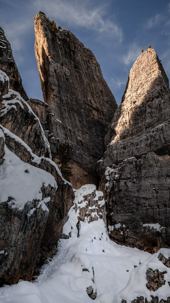 Cinque Torri snow - Dolomites Itinerary: the 5 most stunning hikes to discover in 2021