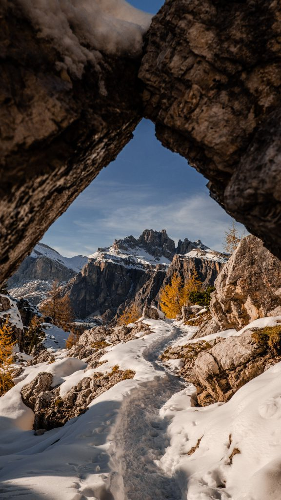 Cinque Torri snow view - Dolomites Itinerary: the 5 most stunning hikes to discover in 2021