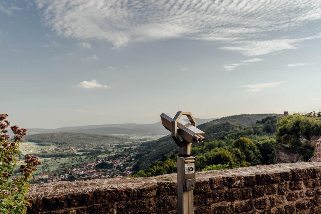 Haut Barr Castle Lookout - Haut-Barr Castle, The Eye of the Alsace