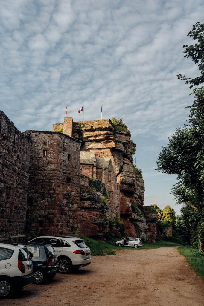 Parking Haut Barr Castle - Haut-Barr Castle, The Eye of the Alsace